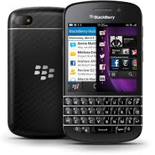 BlackBerry Q10 vista fronte e retro