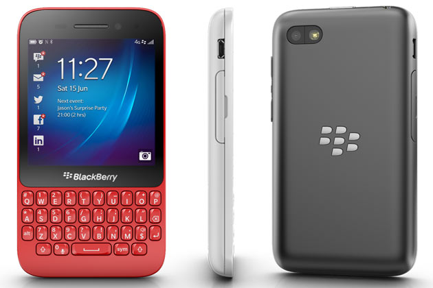BlackBerry Q5 vista fronte e retro