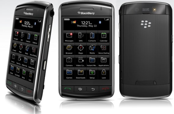BlackBerry Storm 9500 vista fronte e retro